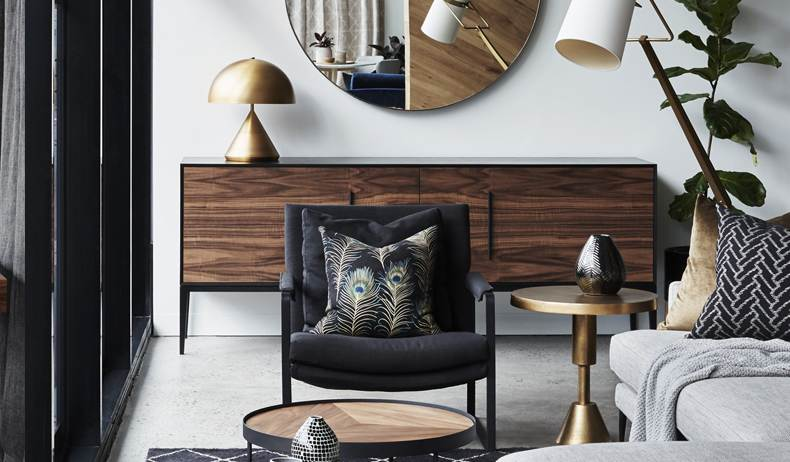Dark timber furniture
